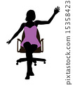 office, chair, silhouette 15358423