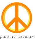 3D Peace Sign 15365423