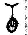Unicycle Silhouette 15366280