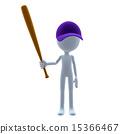 3D Baseball Guy 15366467