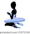 Ballerina Illustration Silhouette 15372140