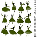 Ballerina Illustration Silhouette 15375113