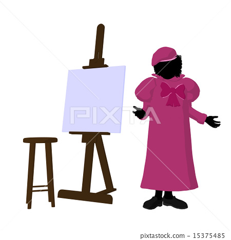 Tween African American Artist Illustration Silhouette 15375485
