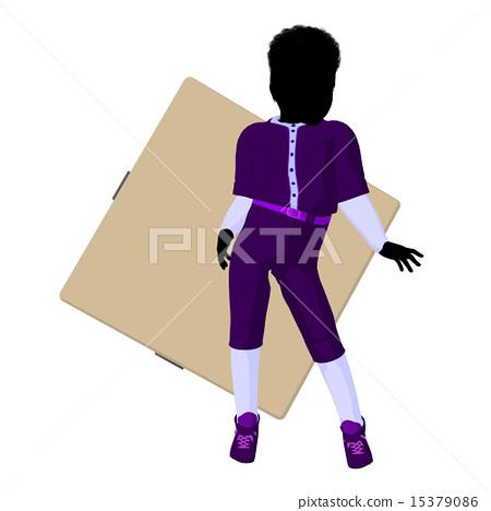 African American Teen Baseball Player Illustration 15379086