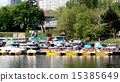 Boats in Danube River Landscape 15385649
