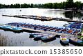 Boats in Danube  River Landscape 15385650