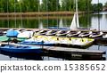 Boats Pier in Danube River 15385652