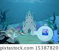 海豚 城堡 马车 15387820