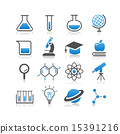 Science icon set 15391216
