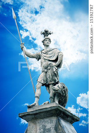 male statue with a lance 15392787