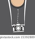 hipster, retro, camera 15392889