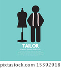 Black Symbol Tailor With Mannequin 15392918