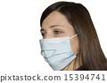 Cold flu illness women in medicine healthcare mask 15394741