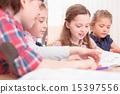 teacher kids hands 15397556