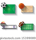 Sport fields illustration icons set 15399089
