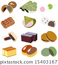 japanese candies, japanese confectionery, wagashi 15403167