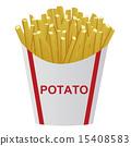 fried, potato, deep 15408583