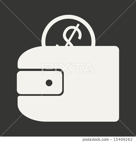 Flat in black and white mobile application wallet 15409262