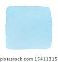 透明水色(方形/藍色) 15411315