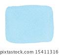 透明水彩(長方形·藍色) 15411316