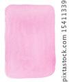 透明水彩(矩形垂直粉色) 15411339