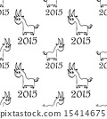 seamless pattern with  goat 15414675