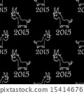 seamless pattern with  goat 15414676