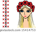 girl or woman with wreath of poppies 15414753