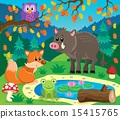 Forest animals topic image 2 15415765