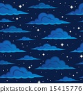 Night sky seamless background 2 15415776