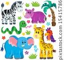 Set of African animals 3 15415786