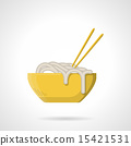 Flat vector icon for noodle dish 15421531