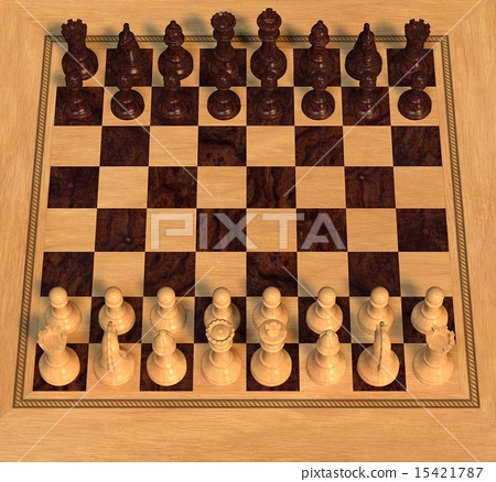 Polished Wood Chess Set 15421787
