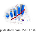 financial graph 15431736