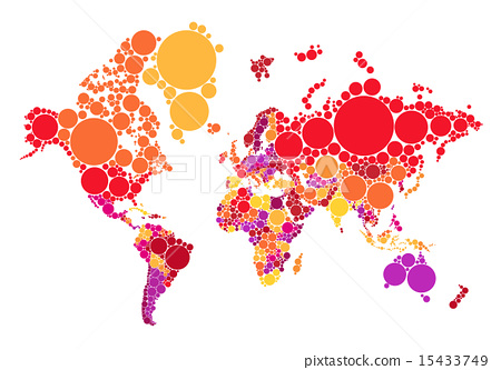 Abstract dot world map with countries vector stock illustration abstract dot world map with countries vector gumiabroncs Gallery