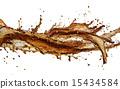 可乐 溅出 抠图 15434584