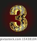 벡터, 황금, 편지 15438104