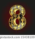 벡터, 황금, 편지 15438109