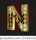 벡터, 황금, 편지 15438126
