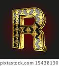 벡터, 황금, 편지 15438130