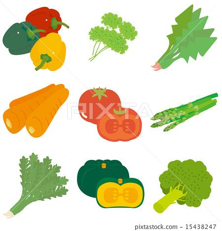 矢量 一組 蔬菜 15438247