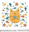 猫と魚 15441478