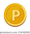 硬幣 錢幣 矢量 15446006