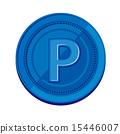 硬幣 錢幣 矢量 15446007