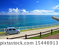 Okinawa Drive Yaeyama Islands Blue sea and car at Ishigakijima 15446913