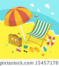 휴일, 모래, 벡터 15457176