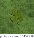 Four leaf clover create by tree with grass  15457538