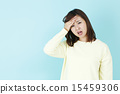 headache, fever, female 15459306