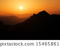 Sunset over mountains in Bosnia, Prenj 15465861