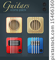 Vector set of guitar icons for music software 15466360